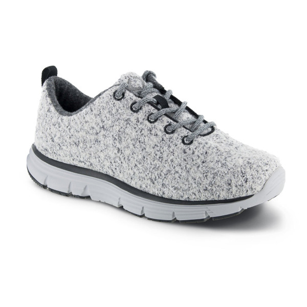 A8000W   Women's Natural Fitlite Wool knit   Light Grey   Apex Shoes