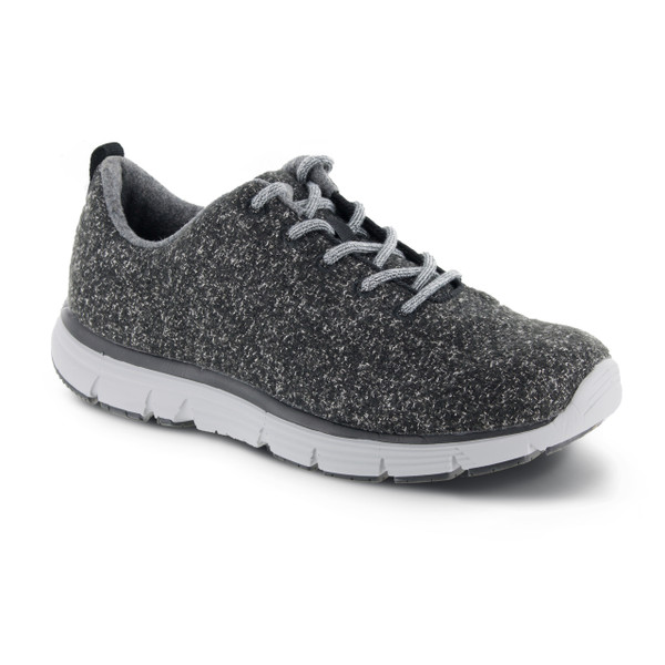 A8100M   Men's Natural Fitlite Wool knit   Dark Grey   Apex Shoes