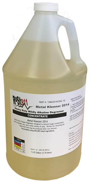 """Metal Kleener 2014 Heavy Duty Detergent- Great for removing """"black residue"""" after rust removal process"""