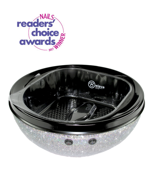 Nails Readers Choice Awards Trio Foot Spa in Silver by Belava