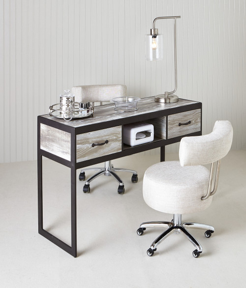 metal-wood manicure table by Belava