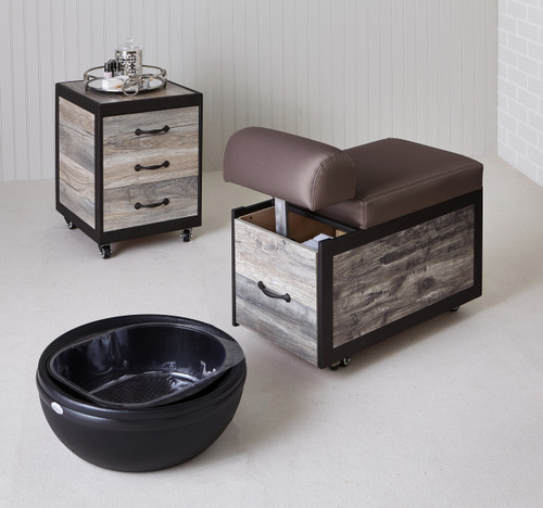 Elora Pedicure Cart for Salon by Belava