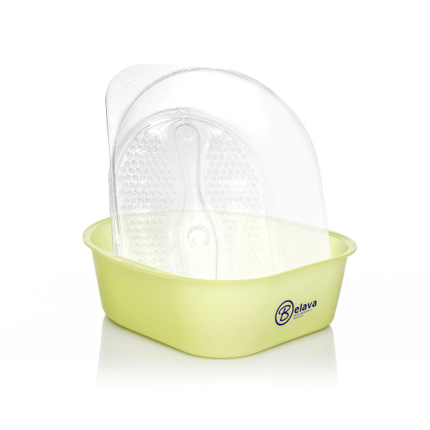 Pedicure Tub with Disposable Liners - Lime/Yellow