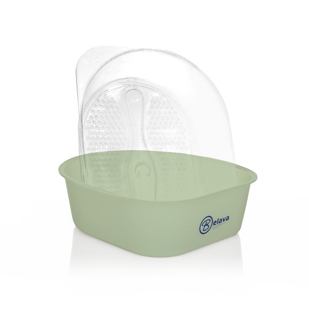 Belava pedicure tub in sage with disposable liners