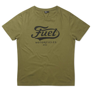 Fuel Logo T-Shirt Army Green Front