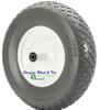 """4.80/4.00-8 Inch, (15"""" x 4"""") Heavy Duty Contractor Stud/Diamond Tread Wheelbarrow Assembly"""