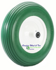 4.80/4.00-8, 16 Inch Rib Tread Wheelbarrow Wheel. Green Color