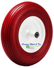 4.80/4.00-8, 16 Inch Rib Tread Wheelbarrow Wheel. Red Color