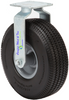 """410/350-4 (10""""x3"""")Caster Wheel Assembly With FIXED Plate and Carefree Tire"""