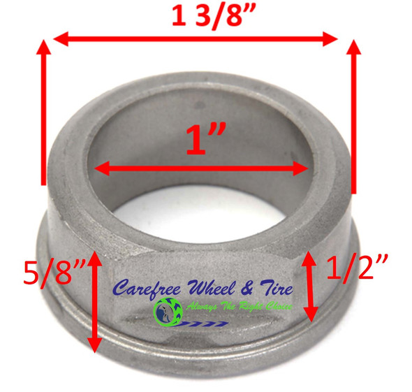 "1"" ID X 1-3/8"" OD x 5/8"" H Flange Oil Impregnated Powder Metal Bushing. Pack of 2"