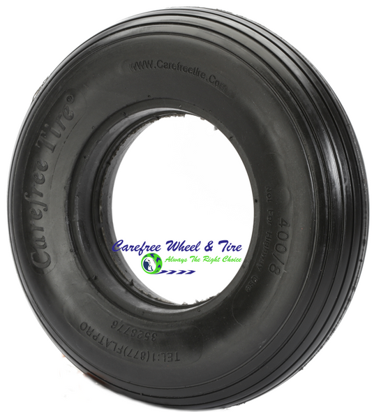 "4.80/4.00-8 (15""x4"") Rib Tread, Wheelbarrow Tire"
