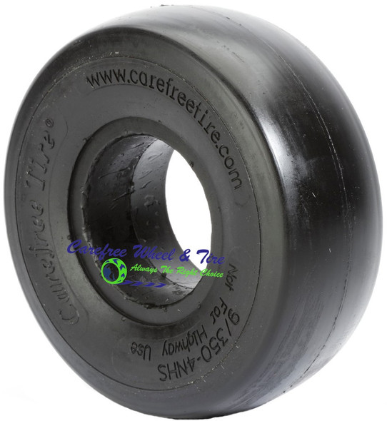 "9/3.50-4 Narrow Bead, Smooth Tread, Lawnmower Tire (2.50"" Bead Width)"