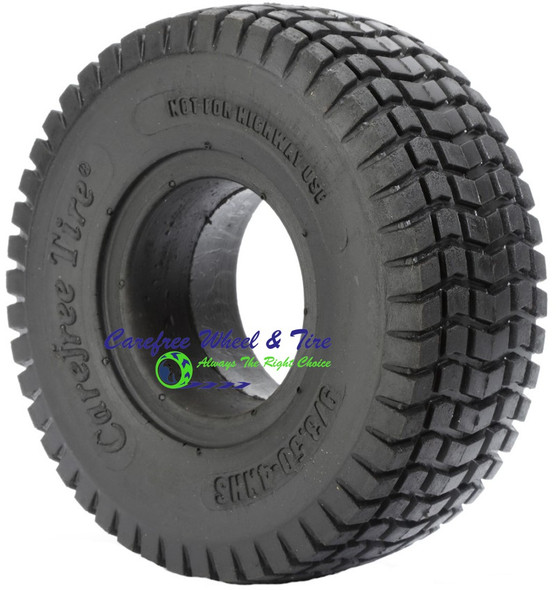 """9/3.50-4 Turf Tread Flat Free Tire, Sulky/ Lawnmower Tire (2.50"""" Bead Width)"""