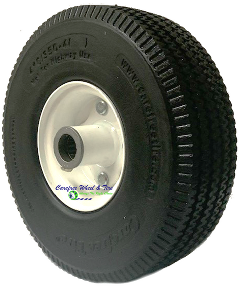 "410/350-4 (10""x3"") Carefree Assy, 3pc Wheel - 2 1/4"" Off centered hub. Choose Bore Size Below"