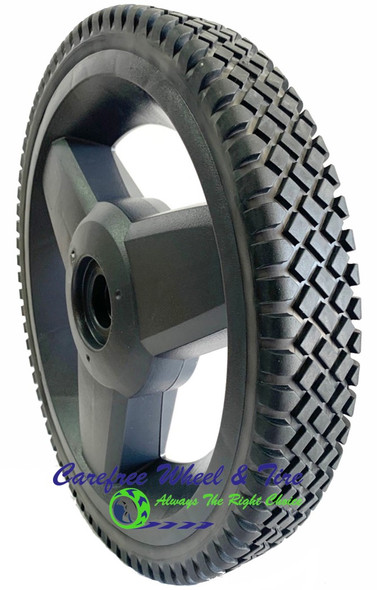 """12"""" x 1.75""""  3 spoke Wheel with 1.72"""" Hub and 1/2 """"Bore"""
