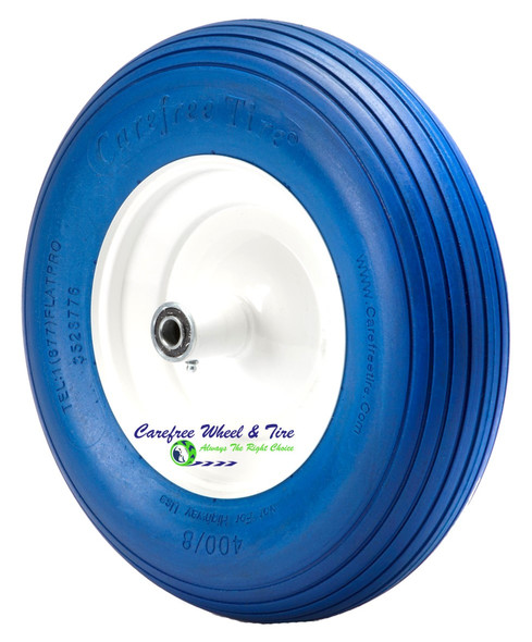 4.80/4.00-8, 16 Inch Rib Tread Wheelbarrow Wheel. Blue Color