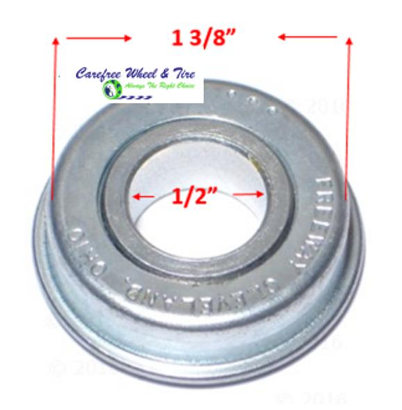 """Pack of 2 FLANGE Bearings 1/2"""" X 1 3/8"""".  REF.#12138"""