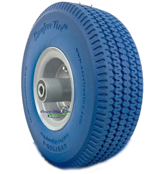 410/350-4 Wheels Assembly With BLUE Color Tire