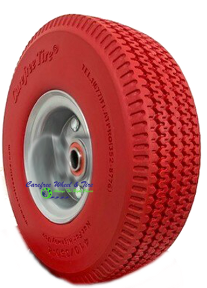 410/350-4 Wheel Assembly With RED Color Tire