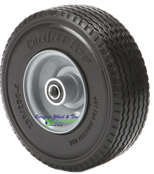 "280/250-4  (9"" x 3"") WIDE Wheel Assembly with Center Hub. See options below"