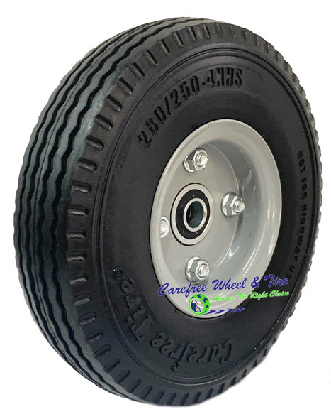 "280/250-4 (9"" x 2.25"") NARROW  Wheel Assembly With 2 1/4"" Off Center Hub"