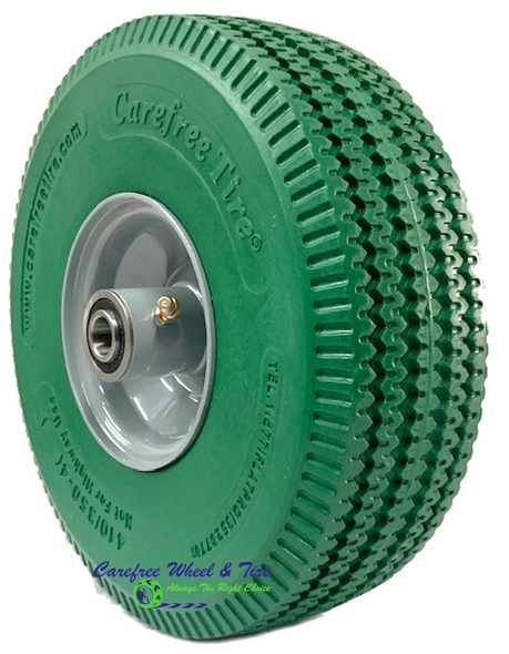 410/350-4 Wheel Assembly With Green Color Tire