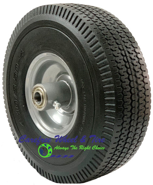 "410/350-4 (10"" x 3"") Economy Wheel With 2 1/4"" Off Centered Hub"