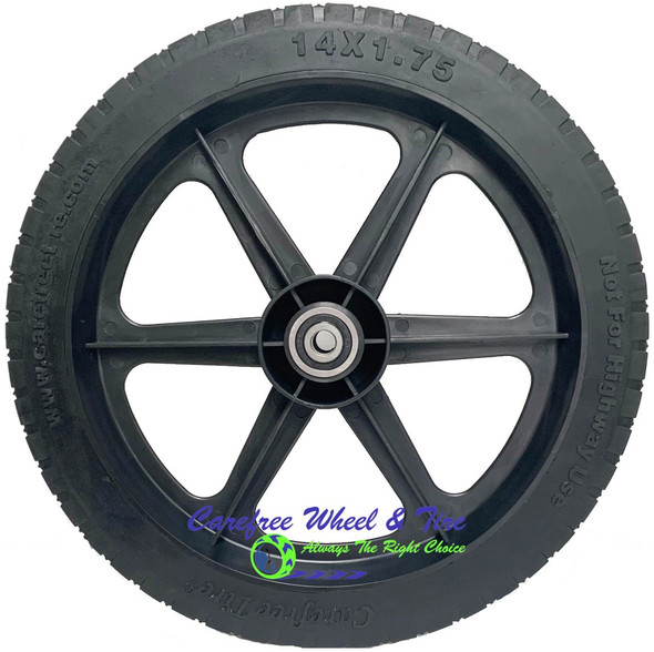 "14"" x 1.75"" HD 6 Spoke Universal Fit For Cart Wheels"