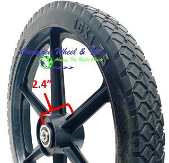 "16"" x 1.75"" XHD 6 Spoke Universal Fit For Cart Wheels"