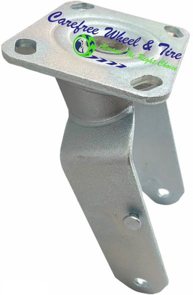 "410/350-4 (10""x3"") SWIVEL Caster YOKE - NO WHEEL LOCK (BRAKE)"