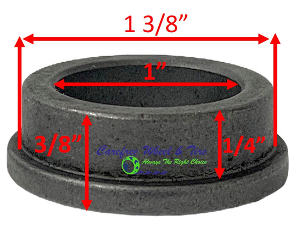 "1"" ID X 1-3/8"" OD x 3/8"" H Flange Oil Impregnated Powder Metal Bushing. Pack of 2"