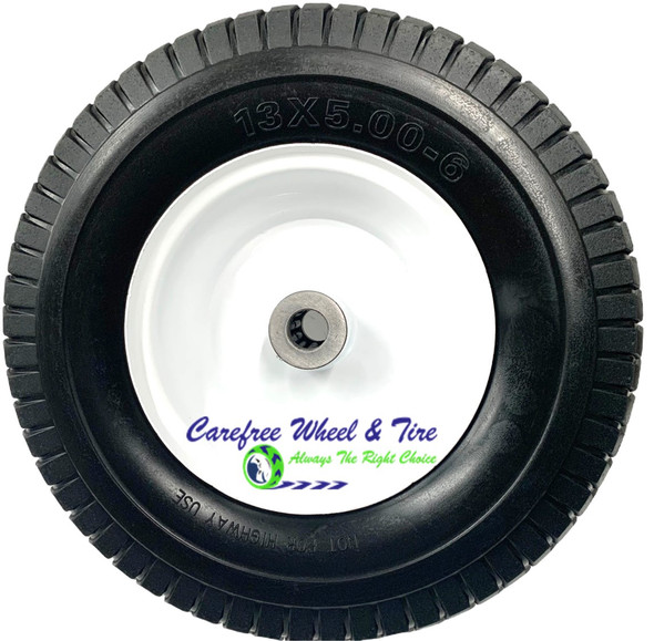 """13 x 5.00 - 6 Wheel Assy With 3"""" Center and 3/4"""" Bushing W/Roller Bearings"""