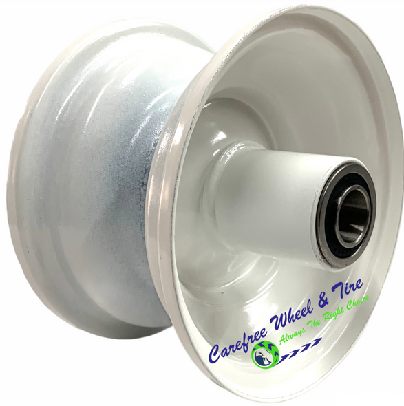 "5″ Steel Rim, 1 Piece With 5"" Center Hub. White Color"