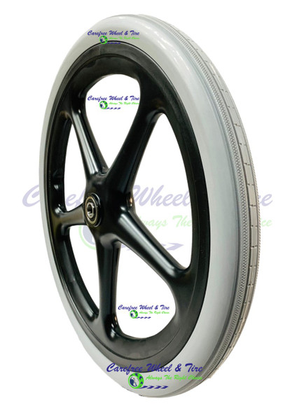 20x1.75 Utility Cart Wheel With Non-Marking Grey Tire