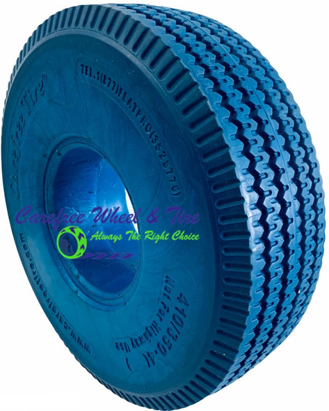 4.10/3.50-4 (10x3) Sawtooth, Handtruck/Cart Tire BLUE COLOR
