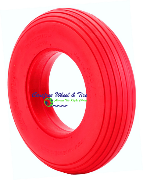 "4.80/4.00-8 (15""x4"") Rib Tread, Red Color Wheelbarrow Tire"