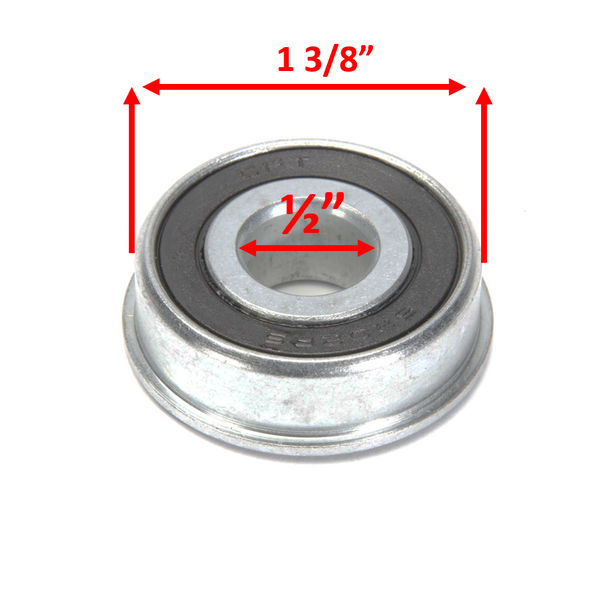 "1/2"" X 1 3/8"" Inch Semi-Precision Ball Bearings. Pack of 2"