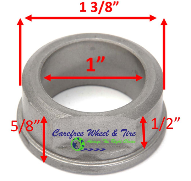 "1"" ID X 1-3/8"" OD x 5/8"" H Flange Oil Impregnated Powder Metal Bushing. Pack of 2"