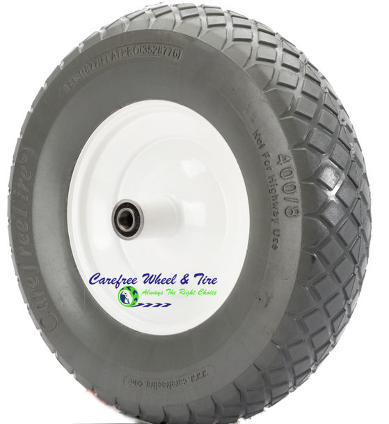 4.80/4.00-8 Inch, 16 Inch Heavy Duty Contractor Stud/Diamond Tread Wheelbarrow Assembly