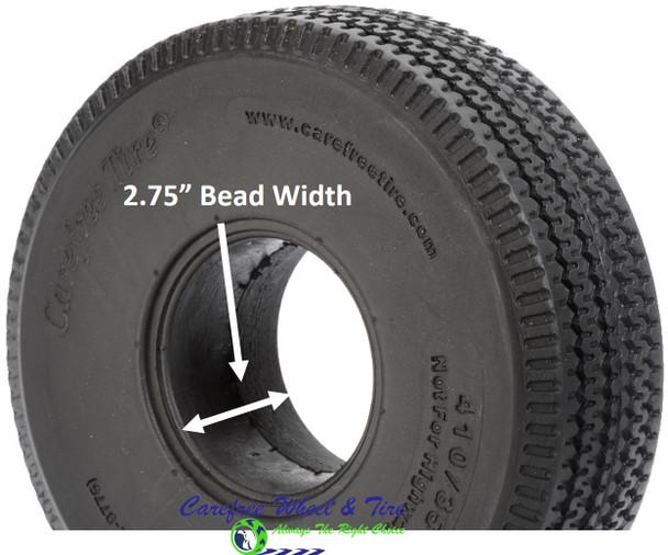 4.10/3.50-4 (10x3) Sawtooth, Handtruck/Cart Tire