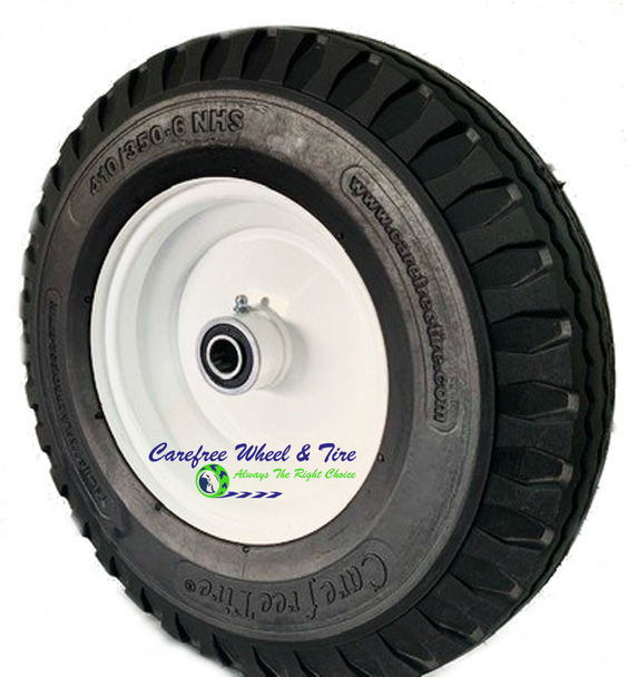 """410/350-6 (12x4) Wheel and Tire Assy With 3"""" Centered Hub"""
