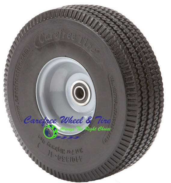"410/350-4 (10"" x 3"") Carefree Wheel With 2 1/4"" Off Centered Hub"