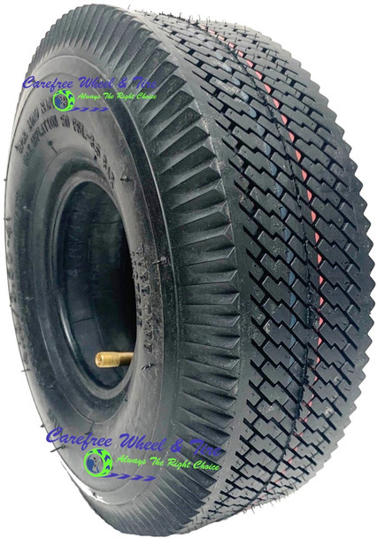 "410/350-4 (10"" x 3"" ) 4Ply Pneumatic Tire With AIR Tube Included"