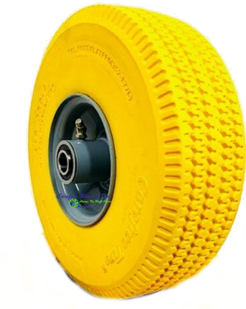 410/350-4 Wheel Assembly With Yellow Color Tire