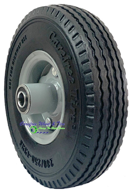 """280/250-4 (9"""" x 2.25"""") NARROW  Wheel Assembly With 2 1/4"""" Off Center Hub"""
