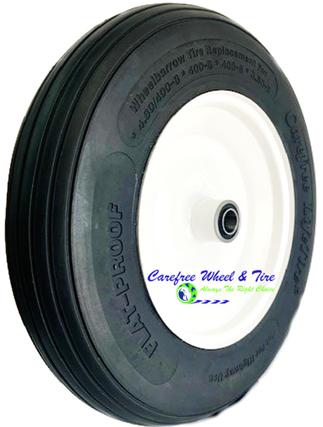 """400-8 (14"""" x 3"""")  Wheelbarrow Tire & Wheel Assembly"""