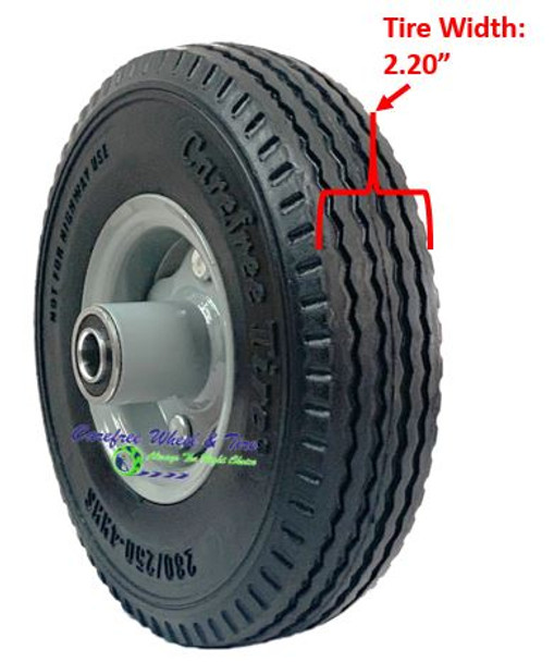 "280/250-4 (9"" x 2.25"") NARROW  Wheel Assembly With 2 1/2"" Center Hub"