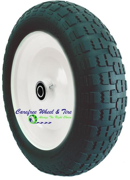 "13 x 350-8 Wheelbarrow / Cart Wheel With 3 3/4"" Hub Width & Bearings"