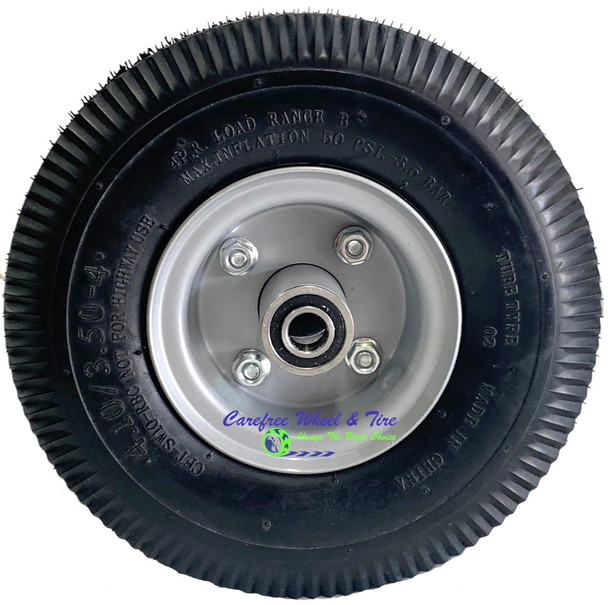"""410/350-4 (10"""" x 3"""") Pneumatic Tire & Tube Assembly With Hub and Bore Options"""