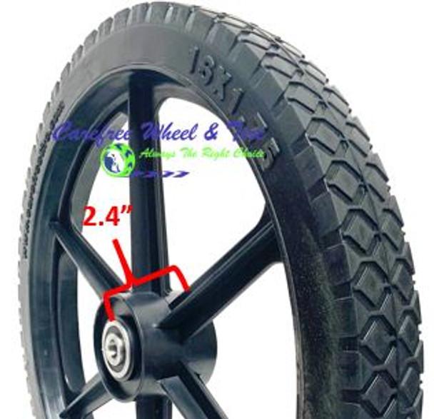 """14"""" x 1.75"""" HD 6 Spoke Universal Fit For Cart Wheels"""